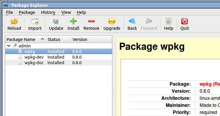 Package Explorer Screen Shot